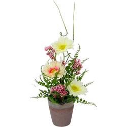 Kunstpflanze Gerbera/Wachsblume, Höhe 40 cm