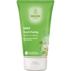 Weleda Birke Dusch-Peeling, Hochwertiges Peeling verfeinert und glättet das Hautbild, 150 ml - Tube