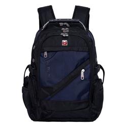 PYATO Laptoprucksack, mit schräger Fronttasche blau