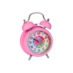 ONVAYA Kinderwecker Kinderwecker, Lernuhr für Kinder, Wecker ohne Ticken, Lernwecker mit Licht & Musik, Quarzwecker, Glockenwecker, Kinderuhr Spielzeug für Jungen & Mädchen rosa