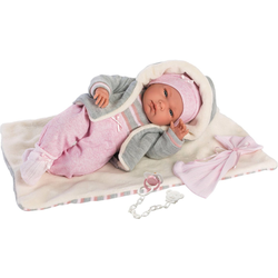 Babypuppe Llorens, Nica, 40 cm (Set, 4-tlg), Made in Europe