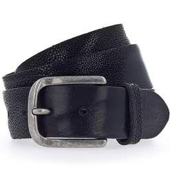 b.belt Gürtel Leder schwarz 85 cm
