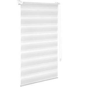 Doppelrollo Klemmfix Duo Rollo ohne Bohren mit Klemmtr/ägern Fensterrollo Gr/ün Grau Wei/ß 40 x 150 cm