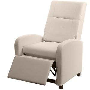 MCW TV-Sessel MCW-H18, Synchrone Verstellung der Rücken- und Fußlehne, Synchrone Verstellung der Rücken- und Fußlehne, Verstellbare Rückenfläche, Klappbare Rückenlehne natur