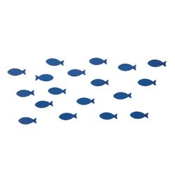 18 Holz Fische Streudeko Tischdeko Taufdeko Taufe Kommunion Konfirmation Firmung Deko - dunkelblau