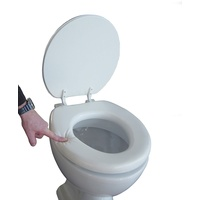 ADOB WC-Sitz Soft, gepolstert aus Schaumstoff weiß