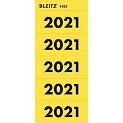 Leitz Jahr 2021 Jahreszahlen Gelb 60 x 25,5 mm 100 Stück
