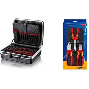 "KNIPEX 00 21 05 LE Werkzeugkoffer ""Basic"" leer & 00 20 12 Elektro-Paket"