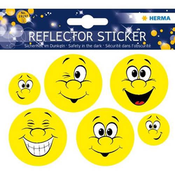 Reflektorsticker Happy Face