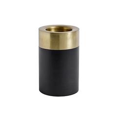 Nordal Kerzenhalter Schwarz/Gold Metall