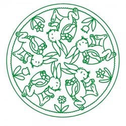 Ostern Holzstempel - Hasen Mandala (50x50 mm)