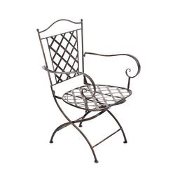 CLP Gartenstuhl Adara handgefertigter Gartenstuhl aus Eisen gelb