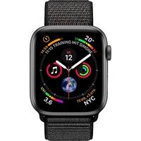 (GPS) 40mm Aluminiumgehäuse space grau mit Loop Sportarmband schwarz