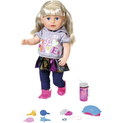 Baby Born Babypuppe Soft Touch Sister 43 cm, blond, interaktiv