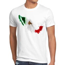 style3 Print-Shirt Herren T-Shirt Flagge Mexiko Fußball Sport Mexico WM EM Fahne weiß XL