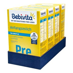 Bebivita Pre Anfangsmilch 500 g, 4er Pack