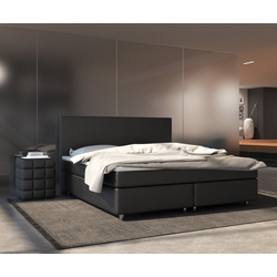 DELIFE Boxspring-bed Cloud 180x200 cm zwart Topper en matras, Bedden