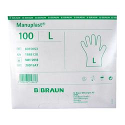 Manuplast Einmalhandschuhe aus Polyethylen, Gr. L, MHD: 05/2018