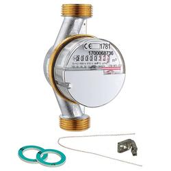 Wasserzähler warm 4,0 m³ mit Anschlussgewinde 1'' - 130 mm - geeicht und beglaubigt
