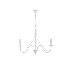 Licht-Erlebnisse Kronleuchter FIORANO Weißer Kronleuchter rustikal Landhaus Stil nostalgisch Hängeleuchte Lampe