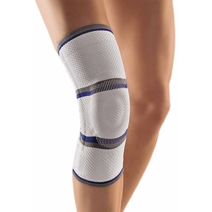 Bort StabiloGen® Eco Kniegelenk Bandage Knie Gelenk Stütze Silikonpelotte, silber, XXXL