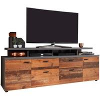 trendteam Mood TV-Lowboard 180 cm old wood matera 2 St.