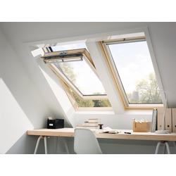 VELUX Dachfenster GGL CK04, Schwingfenster, BxH: 55x98 cm grau