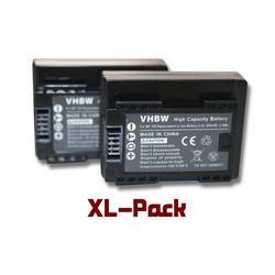 vhbw 2x Akku 800mAh (3.6V) Set mit Infochip für Kamera Canon Legria HF R706, Legria HF R76, Legria HF R78 wie BP-709.