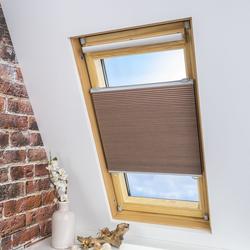 LIEDECO Universal-Dachfenster-Wabenplissee, Verdunklung, Farbe beige