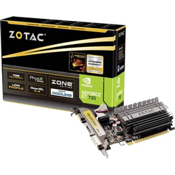 Zotac Grafikkarte Nvidia GeForce GT730 Zone Edition 2GB DDR3-RAM PCIe x16 HDMI®, DVI, VGA