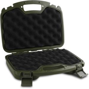 Storfisk fishing & more Pistolenkoffer für große Kurzwaffen mit Noppen-Schaumstoffeinsatz, abschließbar, Farbe :Oliv