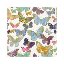 Paper+Design Papierserviette Golden Butterflies, (5 St), 33 cm x 33 cm