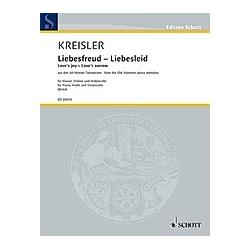 Liebesfreud - Liebesleid  Klaviertrio. Fritz Kreisler  - Buch