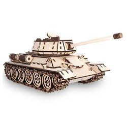 Eco Wood Art 3D-Puzzle T-34 – Panzer – mechanischer Modellbausatz aus Holz, Puzzleteile