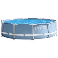 Frame Pool Set 457 x 84 cm grau/blau inkl. Kartuschenfilter