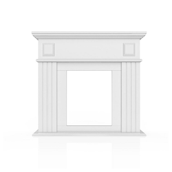 Vicco Kaminumbauschrank Kaminumrandung Deko Vintage Kaminverkleidung Kaminrahmen Dekokamin in Weiß
