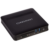 Orbsmart AW-08S Windows 10 Desktop PC | Computer (Intel Quadcore CPU, 4GB RAM, 64GB int. Speicher, HDMI & VGA, USB 3.0, WLAN-ac)