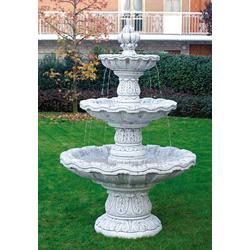 IP-2215 Springbrunnen Niagara Kaskaden Gartenbrunnen als solitär Standbrunnen mit massiven Brunnen Wasserschalen 195cm 495kg (Farbe: Terracotta 6)