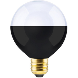 SEGULA Globe LED-Leuchtmittel, E27, 1 Stück, Extra-Warmweiß, Mini LED, Mini Globe, LED Leuchtmittel, Design Leuchtmittel, LED Style Lampe, LED Lmape verspiegelt, Schwarz matte LED, LED Lampe schwarz matt, Spiegel LED