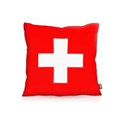 Kissenbezug, VOID, Schweiz Flagge Fahne Fan Fussball EM WM Suisse 60 cm x 60 cm