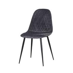 Esstisch Stühle in Grau Microvelour 50 cm Sitzhöhe (2er Set)