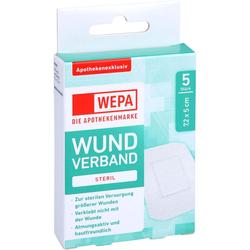 WEPA Wundverband 7,2x5 cm steril 5 St.