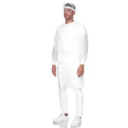 Pano SMS Schutzkittel, 40g, weiß, Schutzkleidung für medizinische Zwecke, unsteril, 1 Stück, Größe XL - 1,17 x 1,48 m