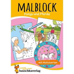 Malblock - Pferde als Buch von