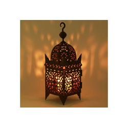 Casa Moro Laterne Marokkanische Eisenlaterne Firyal H-60 cm edelrost-braun für draußen & Innen, Kunsthandwerk aus Marokko, hängend & stehend, Handmade Gartenlaterne Bodenlaterne, L1648