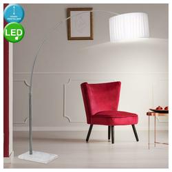 etc-shop Stehlampe, LED 8 Watt Stehlampe Leselampe Marmorsockel Teleskopleuchte Standleuchte Standlampe