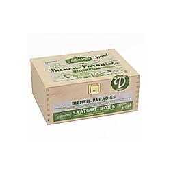 Saatgut-Holzbox Bienenparadies  8 Saatgut-Sorten