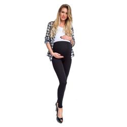 Welt der Träume Leggings Umstandsleggings mit Hoher Bund, Damen Leggings, Schwangerschaftshosen, Schwangerschaftsmode schwarz XL