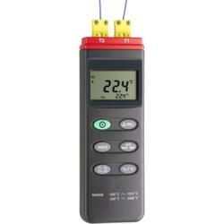 2-Kanal Temperatur-Messgerät inkl. 2x Thermodraht Typ-K. Temperaturbereich - 200°... + 1370°C