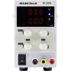 Basetech Labornetzgerät, einstellbar 0 - 30V 0 - 5A 150W Steckanschluss 4mm schmale Bauform Anzahl